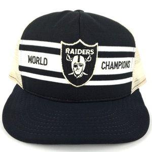 Vintage NFL Oakland Raiders World Champions Hat